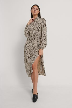 NA-KD High Neck Elastic Waist Midi Dress