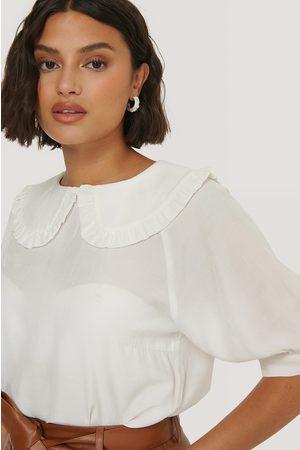 NA-KD Big Collar Blouse