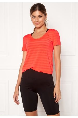 Only Play Kvinder T-shirts - Sue V-Neck Training Tee Fiery Coral L