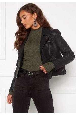 JACQUELINE DE YONG Kvinder Skindjakker - Simba Faux Leather Jacket Black 40
