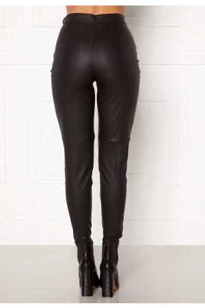 Vero Moda Kvinder Leggings - Janni HW PU Legging Black M