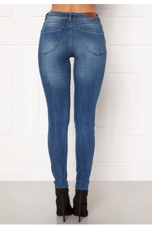 Vero Moda Kvinder Skinny - Tanya Piping Raw Jeans Medium Blue Denim XL/30