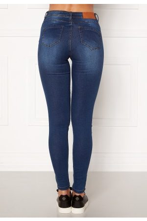 Noisy May Kvinder Skinny - Jen NW S.S Shaper Jeans Medium Blue Denim 30/30