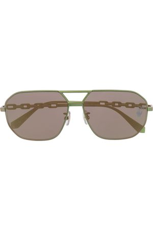 OFF-WHITE METAL SUNGLASSES SCARABEO GREEN NO COLOR