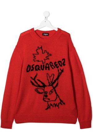 Dsquared2 TEEN reindeer crew neck jumper