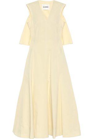Jil Sander Kvinder Maxikjoler - Cotton and silk maxi dress