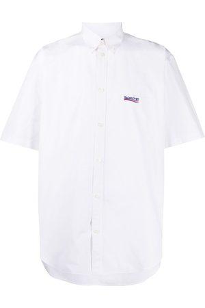 Balenciaga Mænd Kortærmede - Kortærmet skjorte med broderet logo