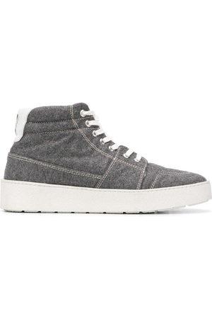 Ami Sneakers - High-top sneakers med læderkant