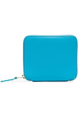 Comme des Garçons Blue zip-around leather wallet