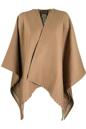 Burberry Icon Stripe Detail Wool Cape