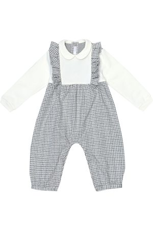Il gufo Onesies - Baby checked cotton onesie