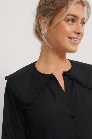 NA-KD Kvinder Tights - Embroidery Collar Shirt