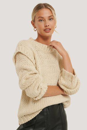 NA-KD Kvinder Strik - Wool Blend Shoulder Detail Knitted Sweater