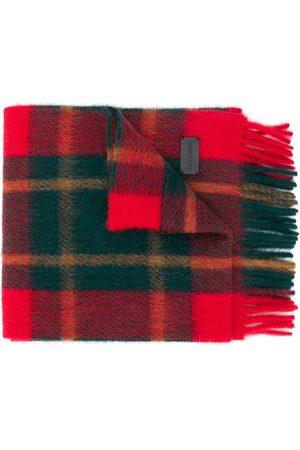 Saint Laurent Mænd Tørklæder - Skotskternet tørklæde med frynser