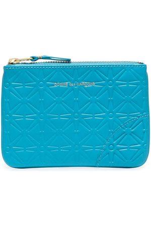 Comme des Garçons Blue classic embossed leather wallet
