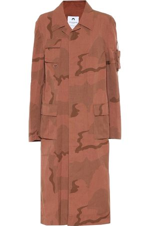 Marine Serre Camouflage cotton coat