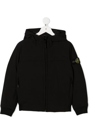 Stone Island Hooded logo patch jacket