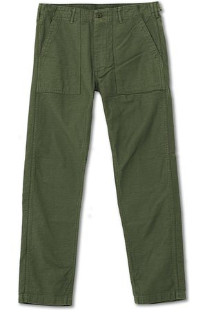 ORSLOW Mænd Chinos - Slim Fit Original Sateen Fatigue Pants Army Green