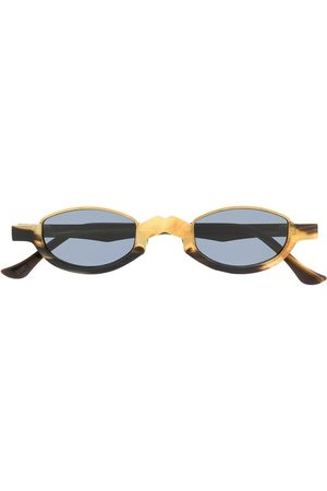ZIGGY CHEN Half-frame two-tone sunglasses