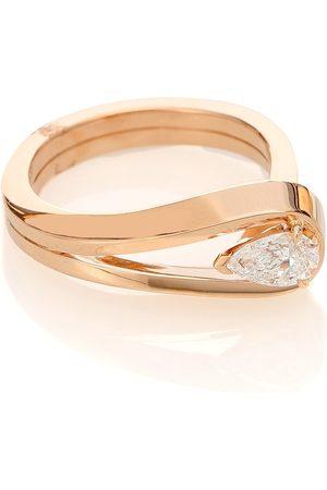 Repossi Serti Inversé 18kt rose gold ring with diamond