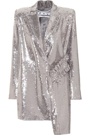 OFF-WHITE Asymmetric sequined blazer