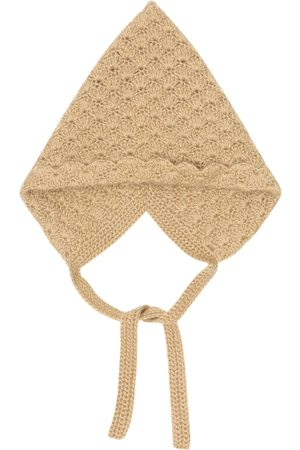 Caramel Baby Curlew cashmere beanie