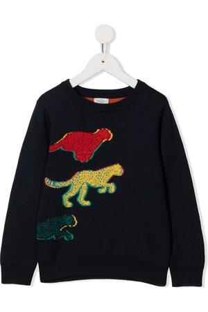 Paul Smith Strik - Intarsia knit leopard jumper