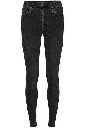 Vero Moda Vmloa High Waist Skinny Fit Jeans Kvinder Sort