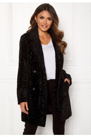 Happy Holly Sienna fur coat Black 40/42