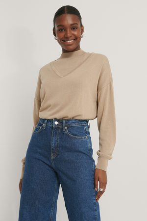 NA-KD Kvinder Strik - Two Piece Layered Sweater