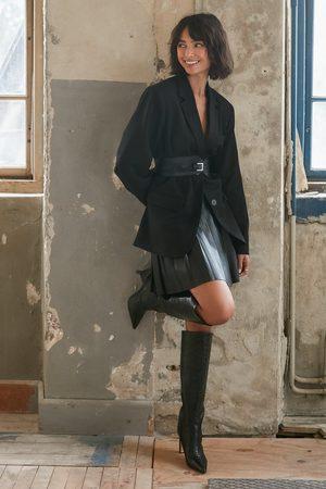 NA-KD Kvinder Mininederdele - Pleated PU Skirt