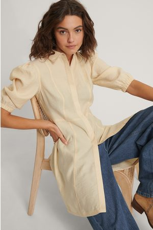 NA-KD Puffy Sleeve Shirt Dress