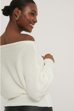 NA-KD Kvinder Strik - Off Shoulder Knitted Sweater