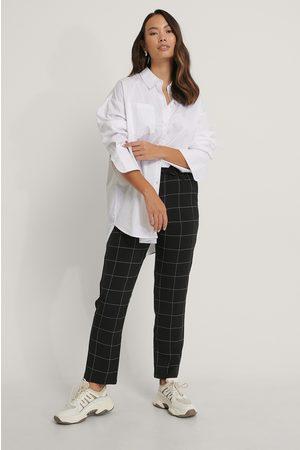 NA-KD Elastic Waist Check Pants