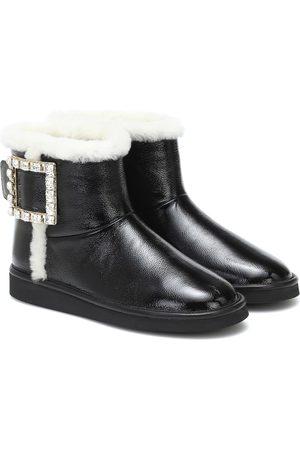 Roger Vivier Viv Snow Strass leather ankle boots