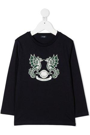 Il gufo Sweatshirts - Dragon-print cotton sweatshirt