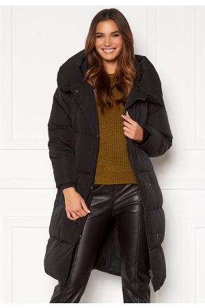 Object Louise Long Down Jacket Black L