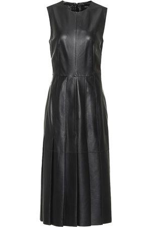 Joseph Kvinder Midikjoler - Demry leather midi dress