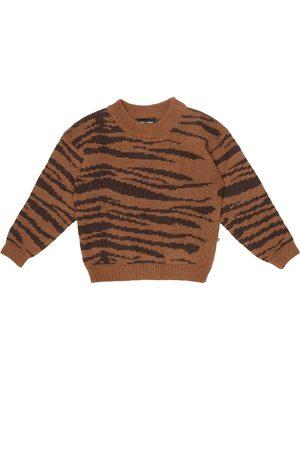 Mini Rodini Piger Strik - Tiger wool and cotton sweater