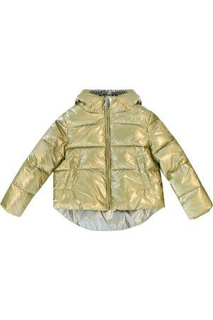 MONNALISA Metallic puffer coat