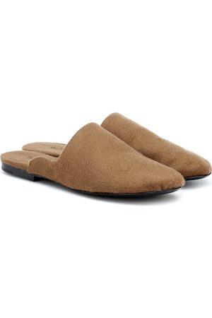 The Row Granpa cashmere slippers