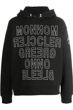 Moncler Mirrored logo-print hoodie