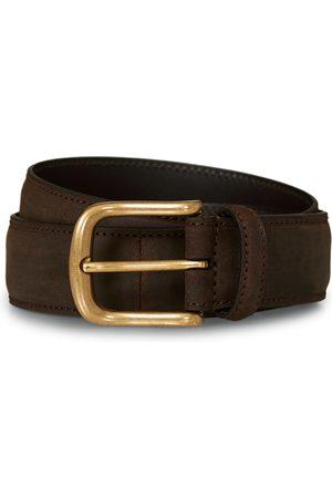 Crockett & Jones 3,5 cm Belt Dk Brown Rough-Out Suede
