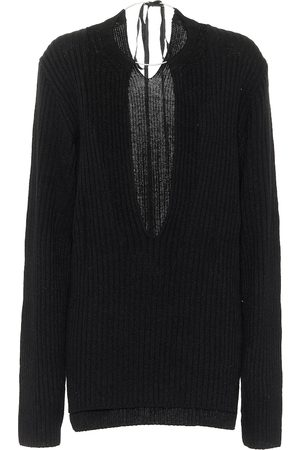 ANN DEMEULEMEESTER Ribbed knit wool sweater