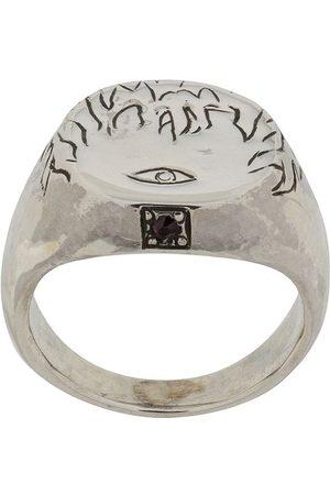 HENSON Graveret Flames & Eye ring med rubin