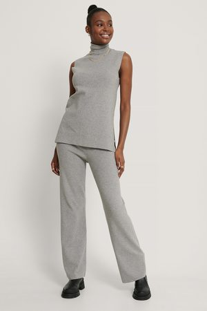 NA-KD Wide Knitted Pants