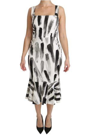 Dolce & Gabbana Printed Sheath Midi Dress
