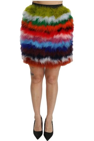 Dolce & Gabbana High Waist Mini Feather Skirt
