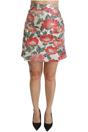 Dolce & Gabbana Floral High Waist Mini Skirt
