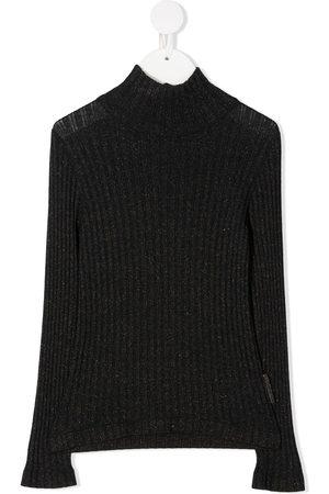 Brunello Cucinelli Metallisk trøje i ribstrik